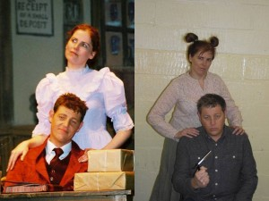 Simon and Gillian then and now